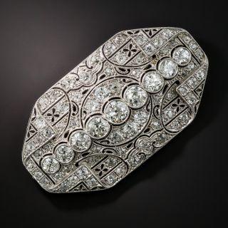 Art Deco Platinum Diamond Brooch - 3