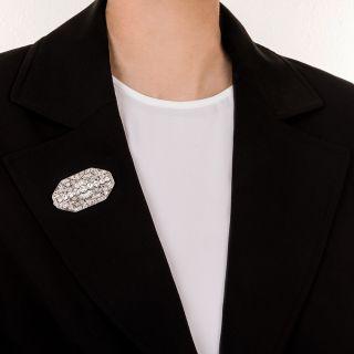 Art Deco Platinum Diamond Brooch