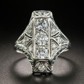 Art Deco Platinum Diamond Dinner Ring - 2