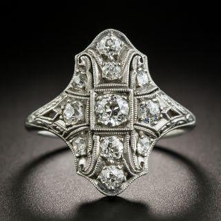 Art Deco Platinum Diamond Dinner Ring by Byard F. Brogan  - 2
