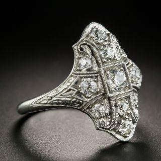 Art Deco Platinum Diamond Dinner Ring by Byard F. Brogan