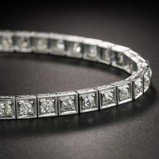 Art Deco Platinum Diamond Line Bracelet - 2