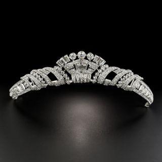 Art Deco Platinum Diamond Tiara