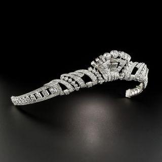 Art Deco Platinum Diamond Tiara - 5