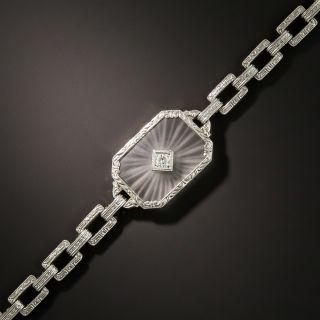 Art Deco Quartz Crystal Diamond Bracelet - 2