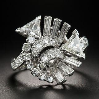 Art Deco/Retro Platinum Diamond Spray Ring