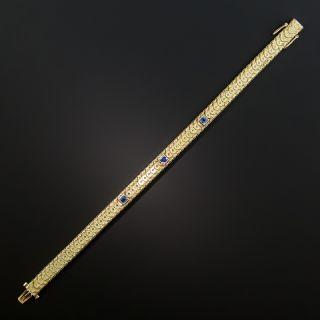 Art Deco Sapphire Bracelet By Sloan