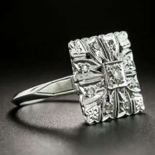 Art Deco Square Diamond Dinner Ring
