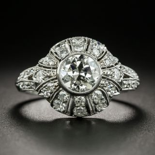 Art Deco Style 1.00 Carat Diamond Engagement  Ring - GIA  J SI1 - 2