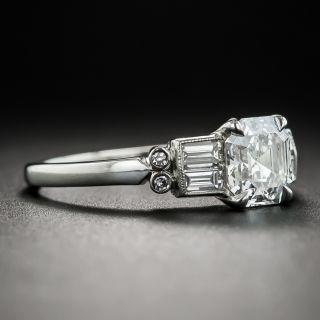 Art Deco Style 1.01 Carat Square Emerald-Cut Diamond Ring - GIA G SI1