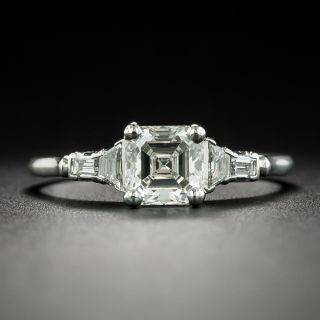 Art Deco Style 1.03 Carat Emerald-Cut Diamond Engagement Ring - GIA G SI1 - 2