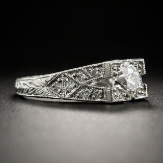 Art Deco Style 1.25 Carat Diamond Platinum Engagement Ring