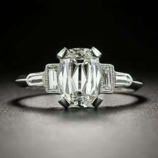 Art Deco Style 1.72 Carat Diamond Engagement Ring - GIA H SI1 - 3