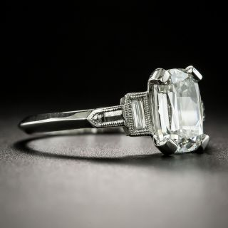 Art Deco Style 1.72 Carat Diamond Engagement Ring - GIA H SI1