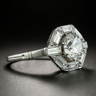 Art Deco Style 2.00 Carat Diamond Engagement Ring - GIA H VS2