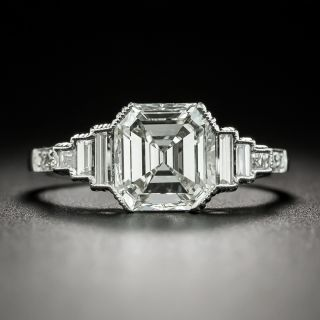 Art Deco Style 2.02 Carat Emerald-Cut Diamond Engagement Ring - GIA H VVS 1 - 2