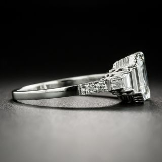 Art Deco Style 2.02 Carat Emerald-Cut Diamond Engagement Ring - GIA H VVS 1