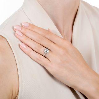 Art Deco Style .49 Carat Emerald-Cut Diamond Engagement Ring