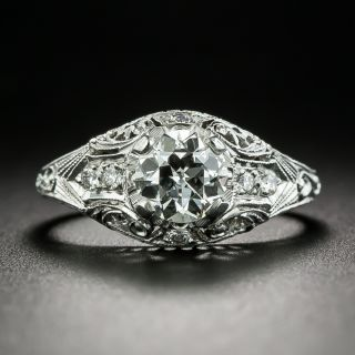 Art Deco Style .78 Carat Diamond Engagement Ring - GIA I VS1  - 2