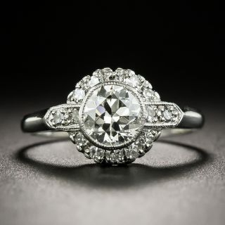 Art Deco Style .82 Carat Diamond Halo Ring - 3