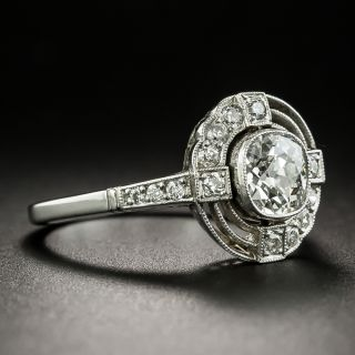 Art Deco Style .90 Carat Diamond Engagement Ring