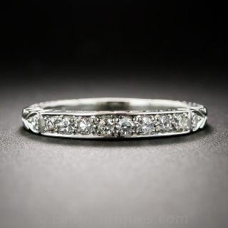 Art Deco Style Diamond Wedding Band - 1