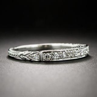 Art Deco Style Diamond Wedding Band