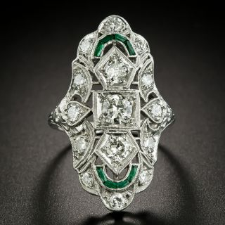 Art Deco Three-Stone Diamond Dinner Ring - 3