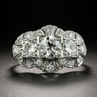 Art Deco Three-Stone Diamond Ring, Circa 1920s-30s - 3