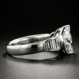 Art Deco Triple Marquise Diamond Ring