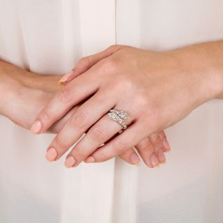 Art Deco Twin MarquiseDiamond Engagement Ring  by Shreve, Crump & Low - GIA