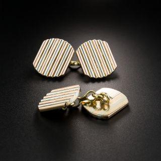 Art Deco Two-Tone Cufflinks