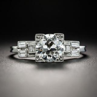 Art Deco 1.35 Carat Diamond Platinum Engagement Ring - GIA I VS2 - 1
