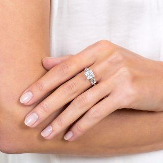 Art Deco 1.35 Carat Diamond Platinum Engagement Ring - GIA I VS2