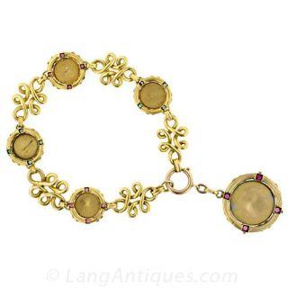 Art Nouveau Charm Bracelet