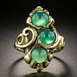 Art Nouveau Chrysoprase Ring by Walton & Co - 2