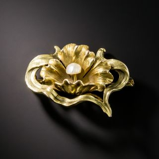 Art Nouveau Poppy Brooch - 2