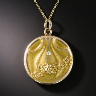 Art Nouveau Round Locket - 2