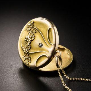 Art Nouveau Round Locket