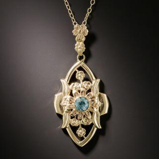 Art Nouveau Zircon Necklace by Shiman - 2
