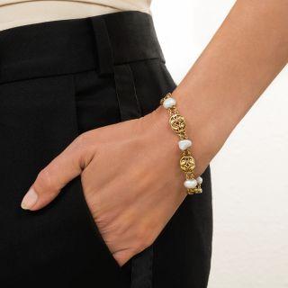 Arts & Crafts Freshwater Pearl Bracelet by Frank Gardener Hale