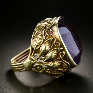 Arts & Crafts 30 Carat Amethyst Ring - 3