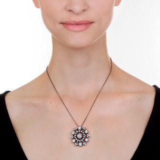 Beautiful Victorian Diamond  Pendant - 10 Carats Total Weight!