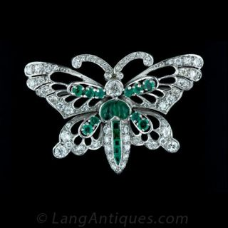 Bejewelled Butterfly Brooch Main View 1