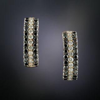 Black & White Diamond 18K Rose Gold Earrings - 1