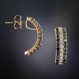 Black & White Diamond 18K Rose Gold Earrings