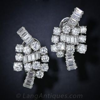 Boucheron Diamond and Platinum Ear Clips - 1