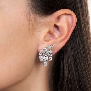 Boucheron Diamond and Platinum Ear Clips