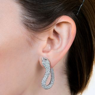 Boucheron Diamond 'Kaa' Snake Clip Earrings