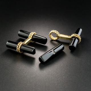 Boucheron Onyx and Gold Cufflinks